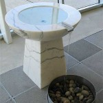 Baptismal font with flowing water