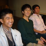 Smiling boys at youth meeting