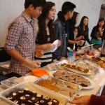 Youth selling baked goods
