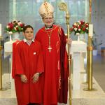 Bishop with male confirmandi