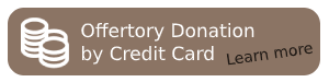 Button that says offertory donation by credit card, learn more